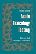 Book Acute Toxicology Testing by Shayne C. Gad