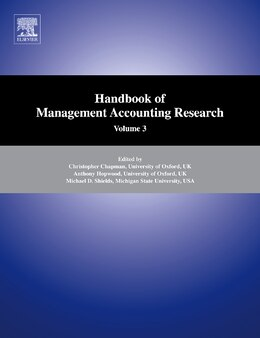 Book Handbook of Management Accounting Research by Anthony G. Hopwood