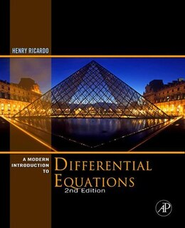Book A Modern Introduction to Differential Equations by Henry J. Ricardo