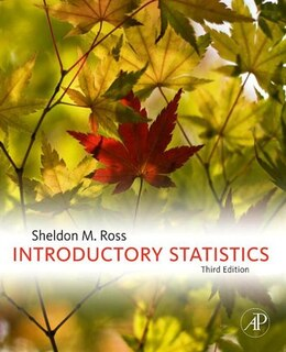 Book Introductory Statistics by Sheldon M. Ross