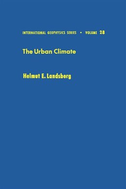 Book The Urban Climate by Helmut E. Landsberg