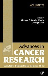 Book Advances In Cancer Research: Cumulative Subject Index by George F. Vande Woude