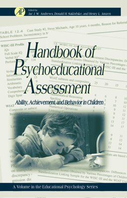 Book Handbook of Psychoeducational Assessment: A Practical Handbook A Volume In The Educational… by Gary D. Phye