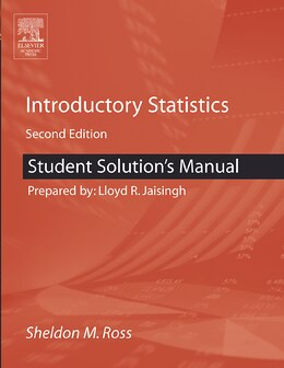 Book Student Solutions Manual For Introductory Statistics by Sheldon M. Ross
