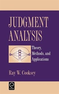 "Book Judgment Analysis: Theory, Methods, and Applications"" by Ray W. Cooksey"