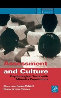 Book Assessment And Culture: Psychological Tests With Minority Populations by Sharon-ann Gopaul Mcnicol