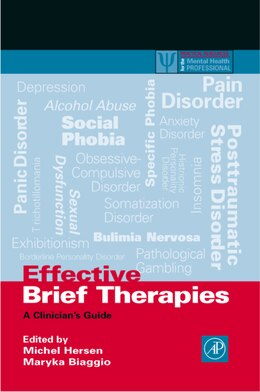 Book Effective Brief Therapies: A Clinician's Guide by Michel Hersen