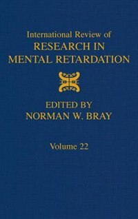 Book International Review of Research in Mental Retardation: INTL REVIEW OF RESEARCH IN MEN by Laraine Masters Glidden