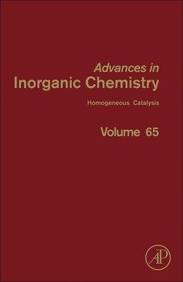Book Advances In Inorganic Chemistry: Homogeneous Catalysis by Rudi Van Eldik