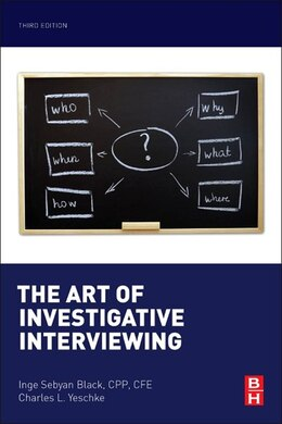 Book The Art Of Investigative Interviewing by Inge Sebyan Black