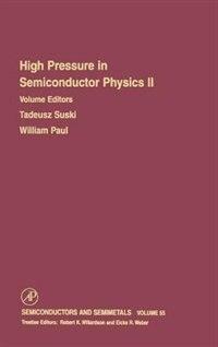 Book High Pressure in Semiconductor Physics II by William Willardson