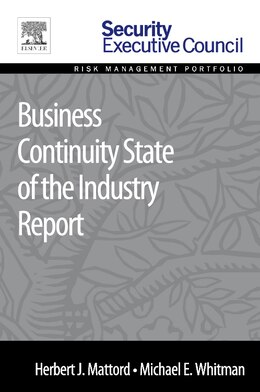 Book Business Continuity State Of The Industry Report by Herbert J. Mattord