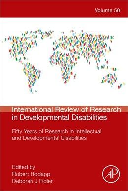 Book International Review Of Research In Developmental Disabilities: Fifty Years Of Research In… by Robert M. Hodapp