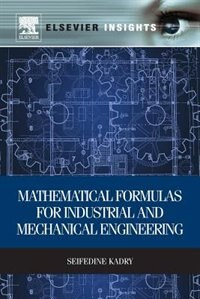 Book Mathematical Formulas For Industrial And Mechanical Engineering by Seifedine Kadry