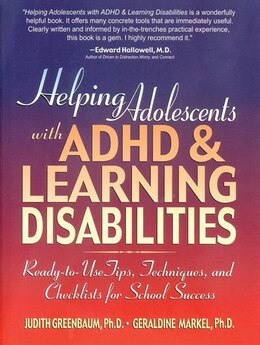 Book Helping Adolescents with ADHD and Learning Disabilities: Ready-to-Use Tips, Tecniques, and… by Judith Greenbaum