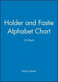 Book Holder and Fastie Alphabet Chart 25-Pack, Contains 25 8-1/2 x 11 Cards by Nancy Fetzer