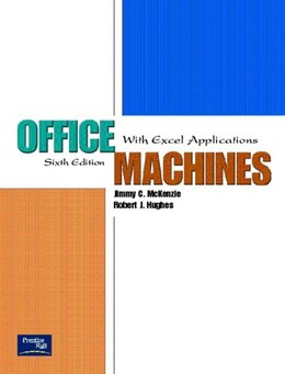 Book Office Machines: With Excel Applications by Jimmy C. McKenzie