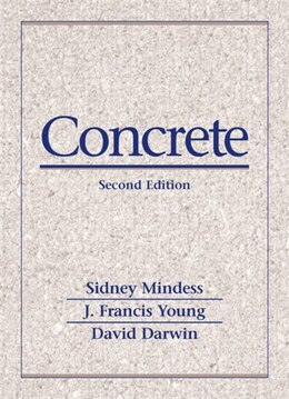 Book Concrete by Sidney Mindess