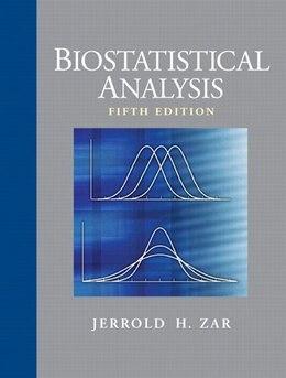 Book Biostatistical Analysis by Jerrold H. Zar