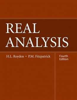 Book Real Analysis by Halsey Royden
