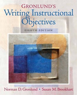 Book Gronlund's Writing Instructional Objectives by Norman E. Gronlund