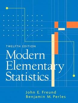 Book Modern Elementary Statistics by John E. Freund