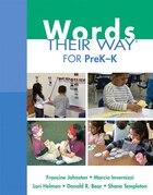 Words Their Way For Prek-k
