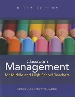 Book Classroom Management for Middle and High School Teachers by Edmund T. Emmer