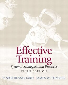 Book Effective Training by P. Nick Blanchard