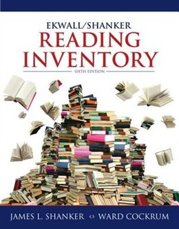 Book Ekwall/Shanker Reading Inventory by James L. Shanker