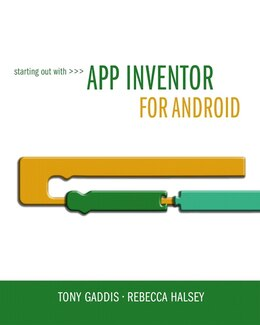 Book Starting Out With App Inventor For Android by Tony Gaddis