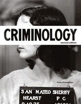 Book Criminology by Frank J. Schmalleger