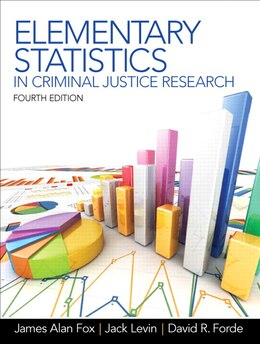 Book Elementary Statistics In Criminal Justice Research by James Alan Fox