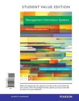 Book Management Information Systems, Student Value Edition by Kenneth C. Laudon