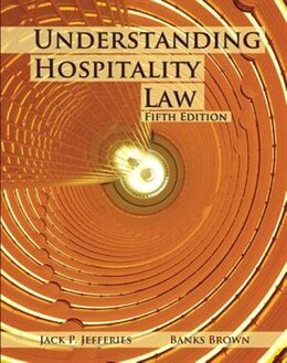 Book Understanding Hospitality Law With Answer Sheet (ahlei) by Jack P. Jeffries