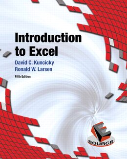 Book Introduction to Excel by David Kuncicky