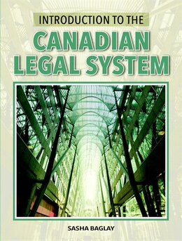 Book Introduction To The Canadian Legal System by Sasha Baglay