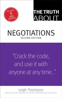 Book The Truth About Negotiations by Leigh Thompson