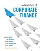 Fundamentals Of Corporate Finance, Second Canadian Edition