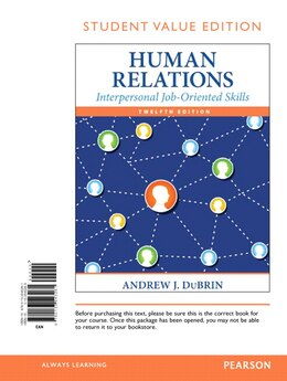 Book Human Relations: Interpersonal Job-oriented Skills, Student Value Edition by Andrew J. Dubrin