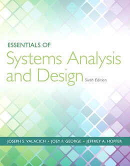 Book Essentials Of Systems Analysis And Design by Joseph Valacich