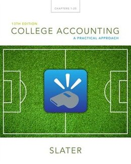 Book College Accounting: A Practical Approach by Jeffrey Slater