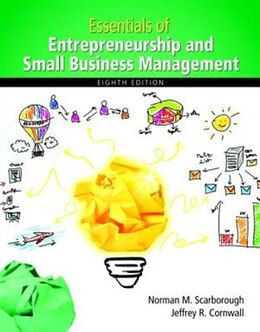 Book Essentials Of Entrepreneurship And Small Business Management by Norman M. Scarborough