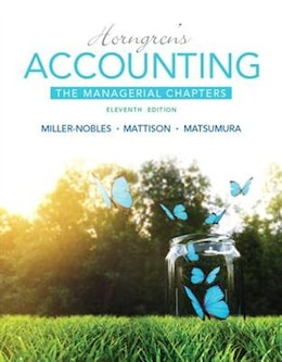 Book Horngren's Accounting: The Managerial Chapters by Tracie L. Miller-nobles