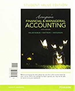 Book Horngren's Financial & Managerial Accounting, Student Value Edition by Tracie L. Miller-nobles
