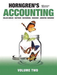 Horngren's Accounting, Volume 2, Tenth Canadian Edition