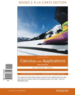 Book Calculus With Applications Brief Version Books A La Carte Edition by Margaret L. Lial