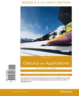 Book Calculus With Applications Books A La Carte Edition by Margaret L. Lial