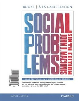 Book Social Problems, Books A La Carte Edition by John J. Macionis