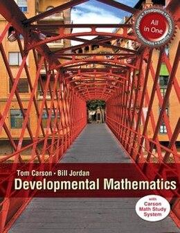 Book Mymathlab For Carson Developmental Mathematics: Prealgebra,  Elementary And Intermediate Algebra… by Tom Carson